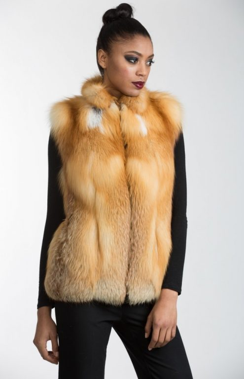 natural red fox vest13
