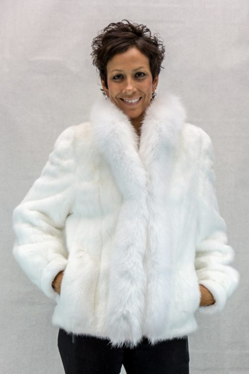 W4 white belached letout female mink 25 jacket with white fox tuxedo2
