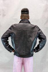 M4 black cabretta lamb 26 zip with snap cuff and elastic hem3