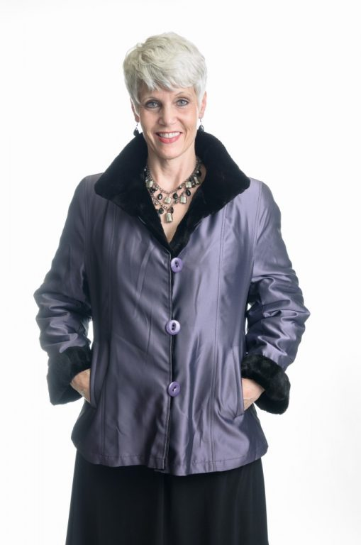 black 25 sheared diamond cut mink jacket2