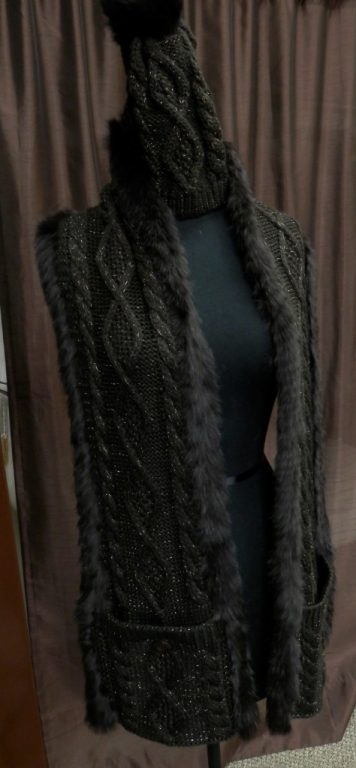 brown knit scarf and hat1