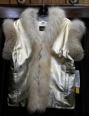 gold metallic vest1
