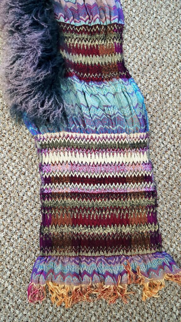 beautifully canadian jean crisan handmade wool scarf with
