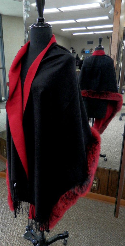 red to black with sliver fox trim8