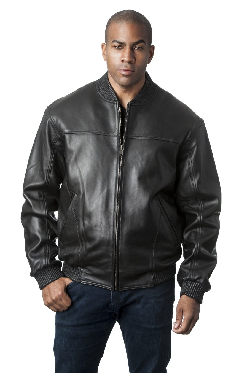 Mason & Cooper Black Premium Lamb Leather Baseball Bomber Jacket ...