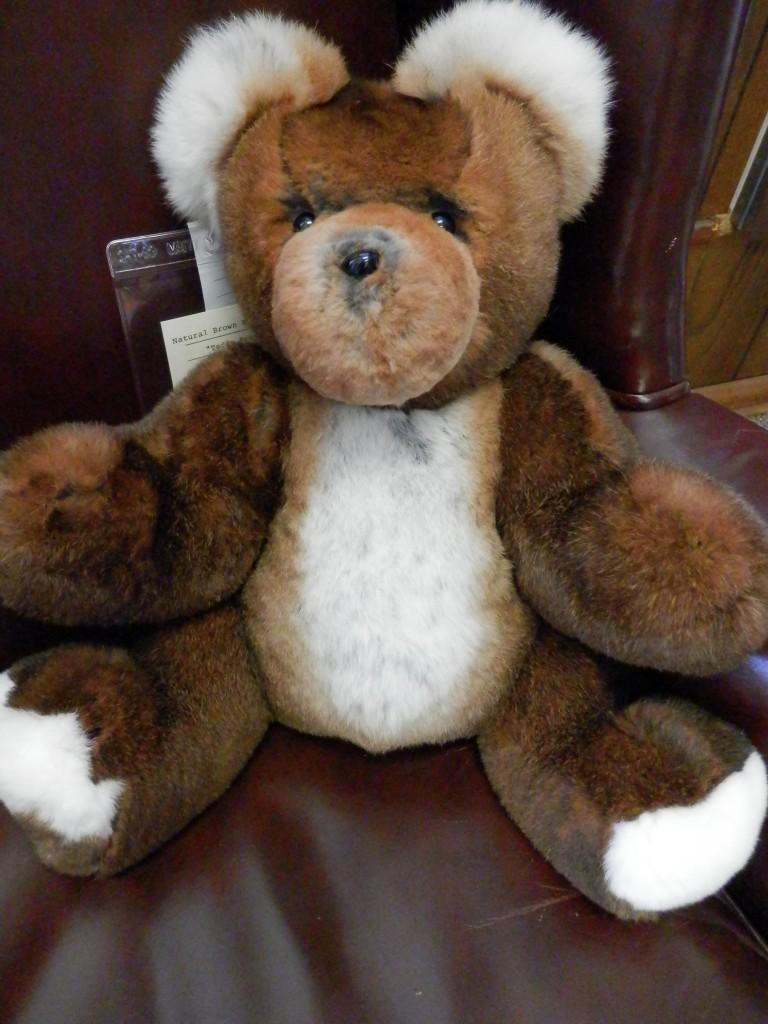 rex rabbit fur natural brown 12 teddy bear a j ugent furs