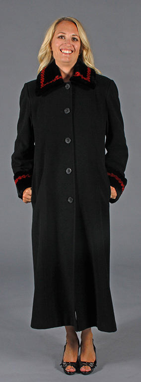 Black Wool and Cashmere Blend Full Length 52
