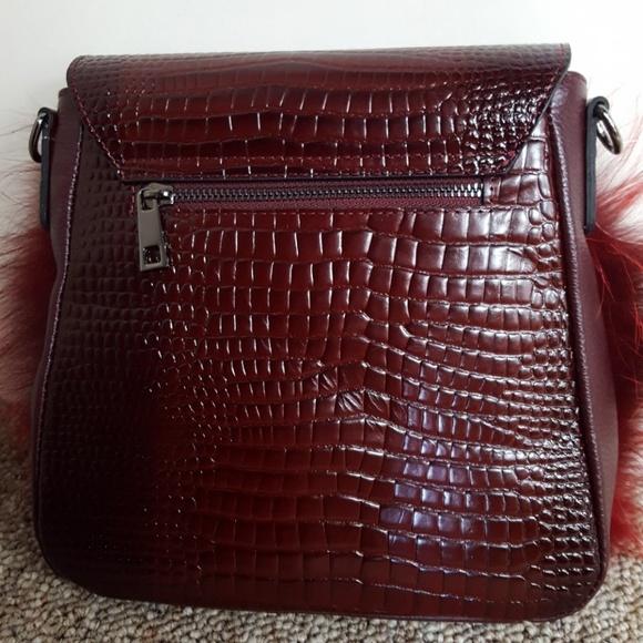 761dbc56322f Leather Purse With Fox Fur