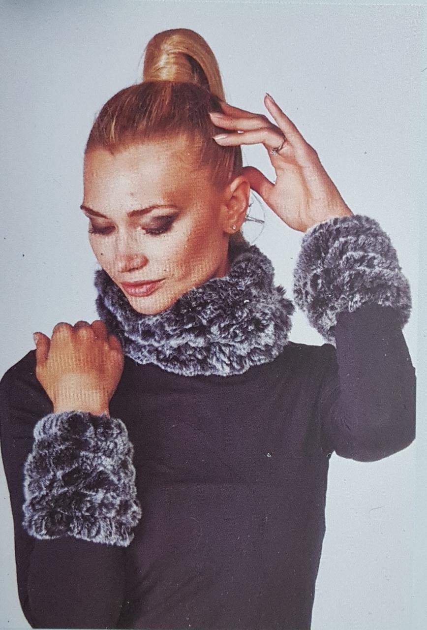 Diana Rosh Knitted Rex Rabbit Fur Accessories A J Ugent