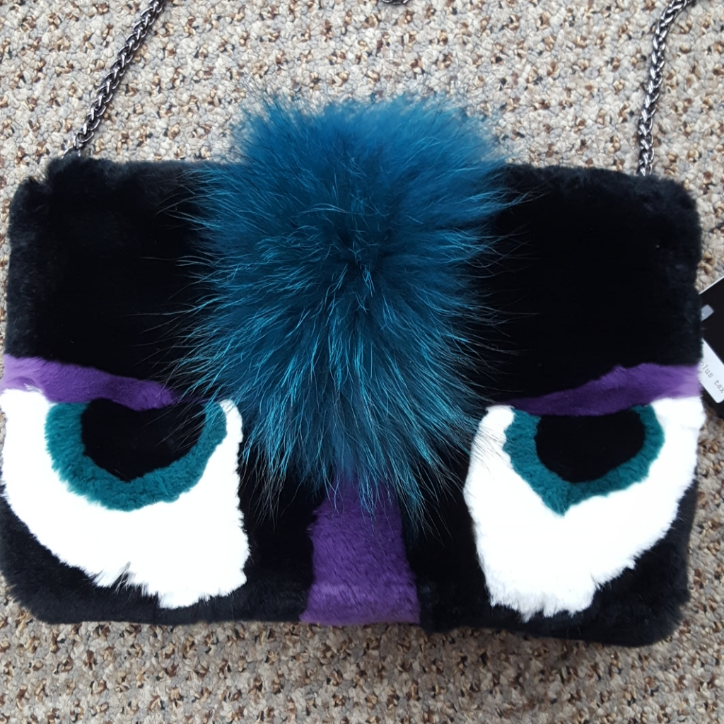 75b05ed0ca9e Rex Rabbit and Raccoon Fur Monster Purse Muff