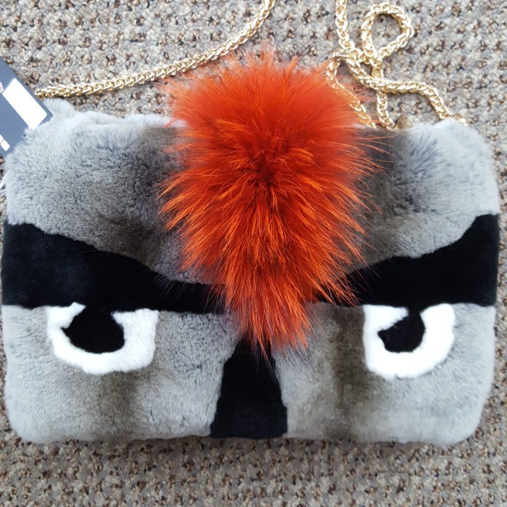 fc0b8f5fb790 Rex Rabbit and Raccoon Fur Monster Purse Muff